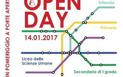 Open Day – Un pomeriggio a porte aperte 14 gennaio 2017