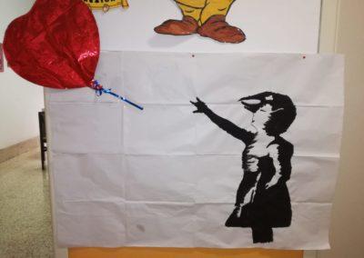 Bamsky - la bambina col palloncino rosso- lavoro di gruppo