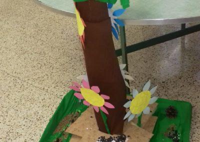 Lavoro artistico espressivo di gruppo per liberare la fantasia- L'albero felice